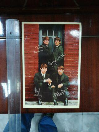 the beatles, postal antigua, año 1964