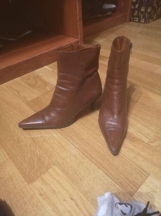 botín marrón piel