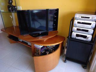 Mueble TV Italiano cristal y madera