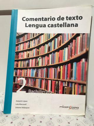 Libro de texto lengua castellana segundo bachiller