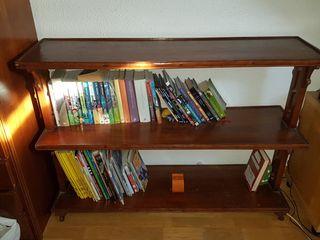 Libreria de madera/mueble Tv. 2 estantes.