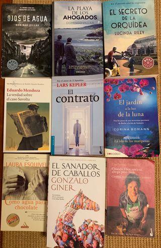 Lote 9 libros.