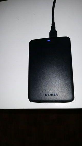 "Toshiba disco duro externo 2.5"" casi nuevo"