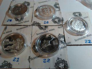 monedas onza plata gorila, leopardo, gibraltar