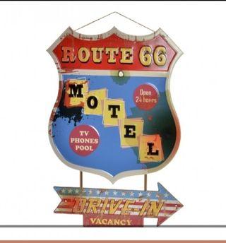 Cartel metálico RUTA 66