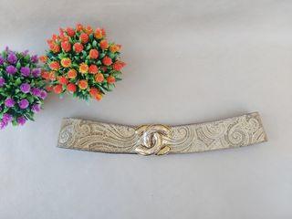 precioso cinturón vintage de piel dorada