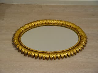 Espejo vintage ovalado rebajado