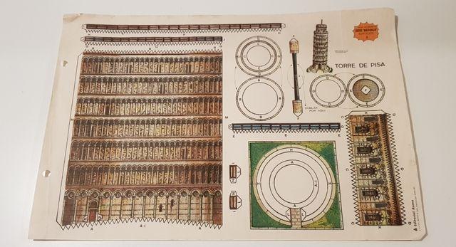Lámina recortable nº8 TORRE DE PISA