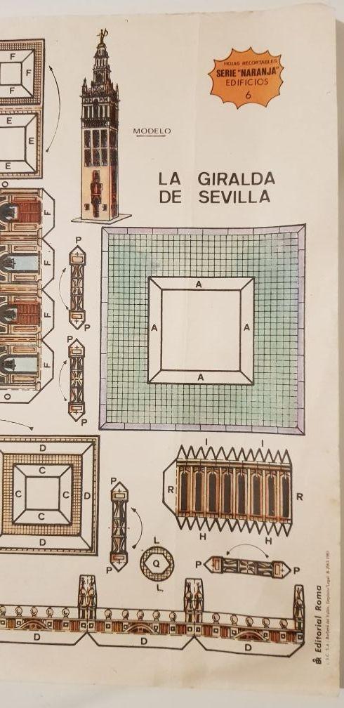 Lámina recortable nº 6 LA GIRALDA DE SEVILLA