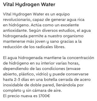 Vital Hidrogen Water