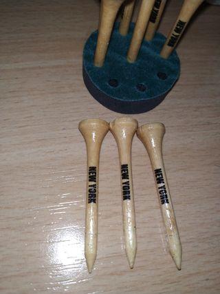 Soporte para pelotas de golf de madera y pelotas