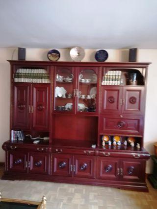 Tresillo y librería salón
