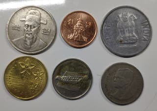 Lote monedas Asia