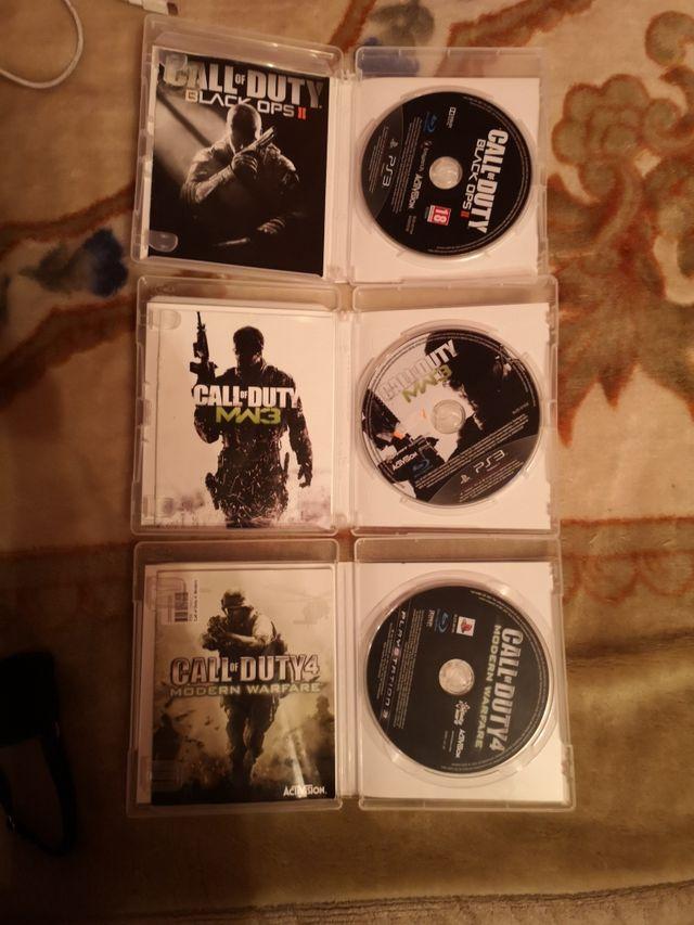 tres juegos de Call of Duty para play 3 cómo nuevo