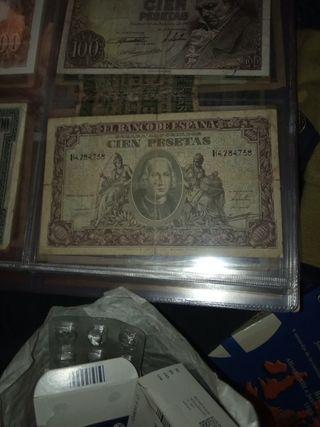 billete de 100 pesetas de 1940