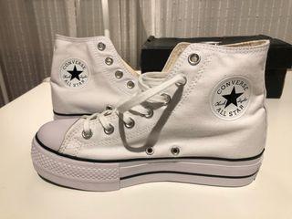 Converse All Star plataforma blancas