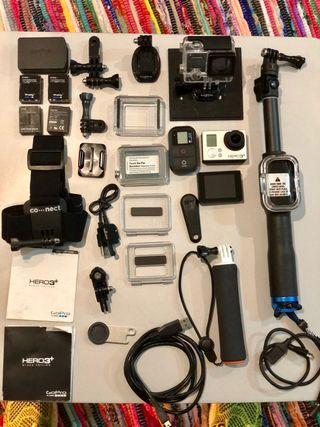 GoPro 3+ Black + accesorios.
