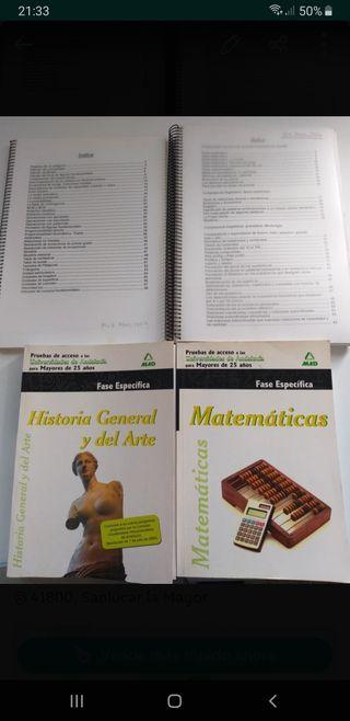lote de libros acceso universidad