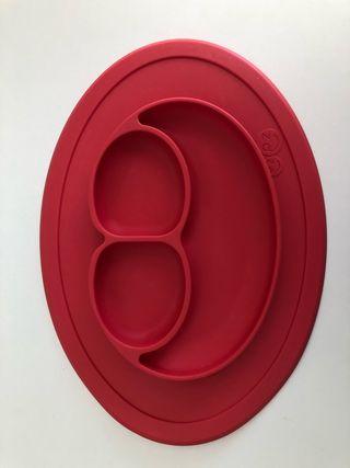 Platos The Mini Mat Unisex Color rojo