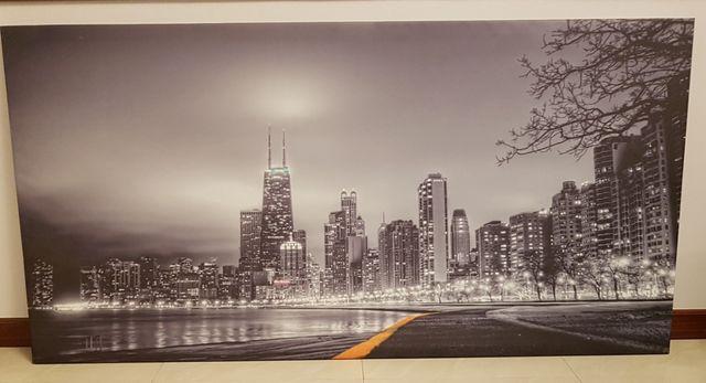 Se vende cuadro en blanco y negro moderno