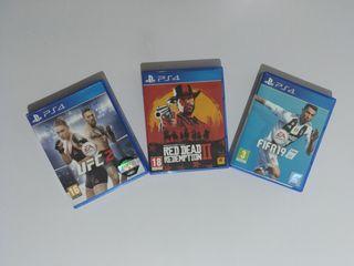 Auriculares con micrófono + tres juegos PS4