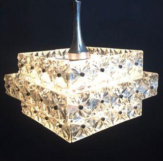 Lámpara de cristal de los años 60 Space