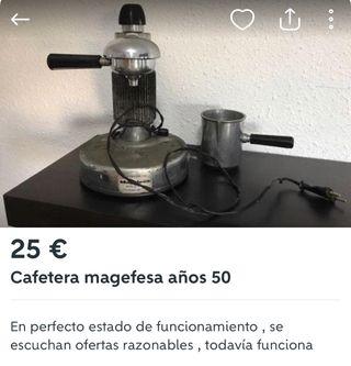 Cafetera años 50
