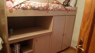 Cama - armario- escritorio. 3 en 1.