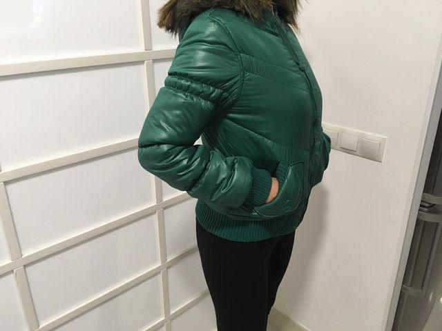 Chaqueta Acolchada verde