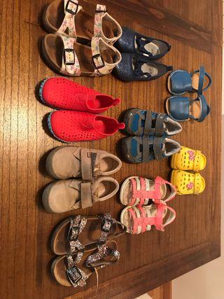 Menorquinas,botas decathlon ,chanclas,talla 26