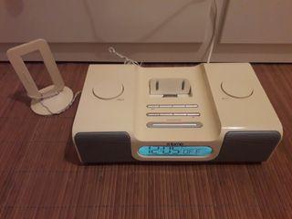 Base reproductor para Ipod + radio + despertador