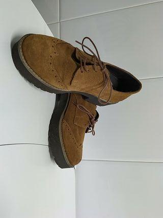 zapatos de piel, talla 37