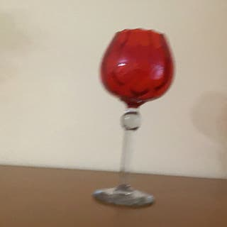 Copa cristal roja