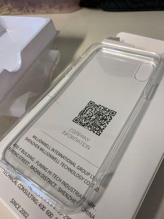 Funda transparente iPhone XS nueva a estrenar