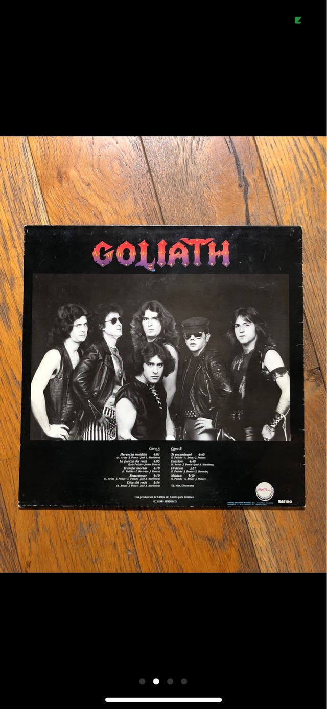 Vinilo LP. GOLIATH