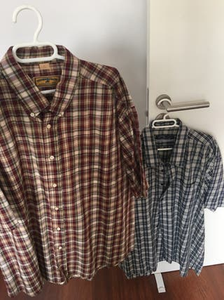 2 camisas masculinas muy grandes