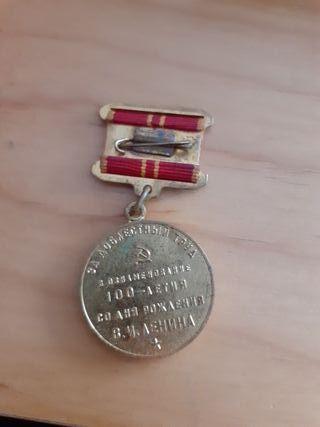 medalla de antigua unión soviética.