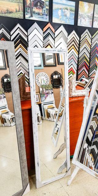 NUEVO Espejo Vintage 170x50 Blanco