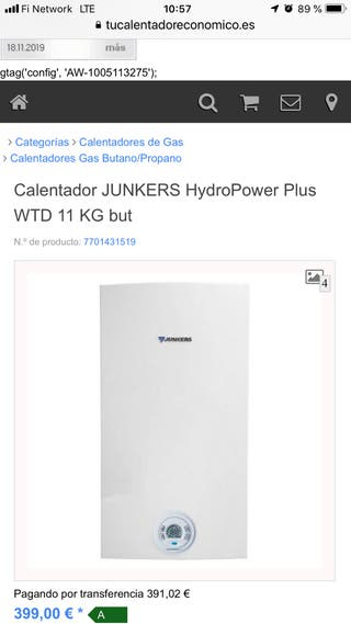 GANGA Termo Junkers Hydropower Plus