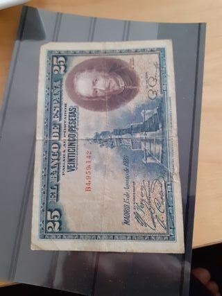 billete 25 pesetas. año 1928.