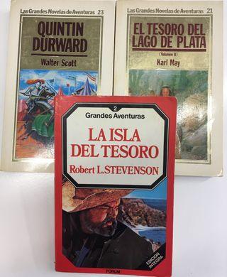 Lote tres libros clásicos de aventuras