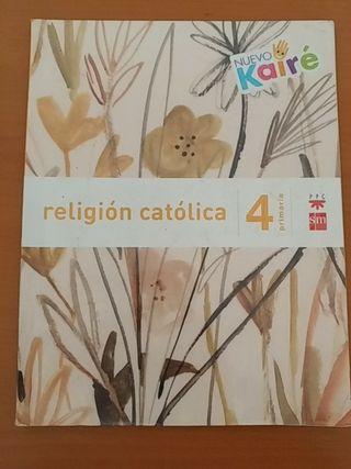 Libro de 4 (cuarto) de religión de SM
