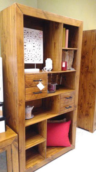 Librería madera rustica