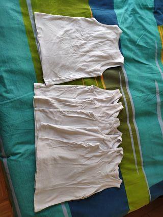 6 camisetas interiores tirantes niño talla 6-8