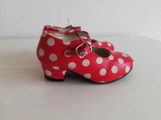 zapatos niña flamenco