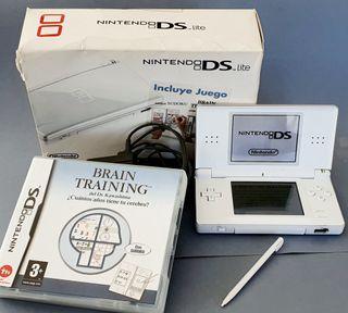 Consola portátil Nintendo Ds lite blanca + juego.