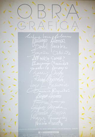 Cartel Obra Gráfica alumnos escuela de arte Oviedo
