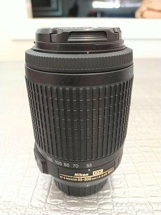 Objetivo Nikon DX AF-S NIKKOR 55-200 mm 1:4-5.6G