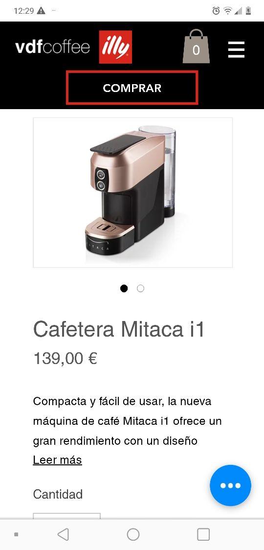 """Cafetera Mitaca i1 de illy """"¡¡NUEVA A ESTRENAR!!"""""""