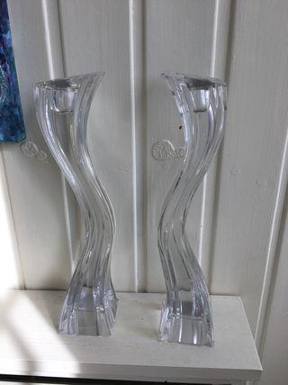 Candelabros de cristal marca Keneth Turner